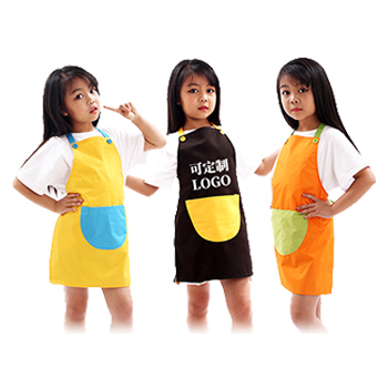 儿童围裙  撞色款式  颜色多样