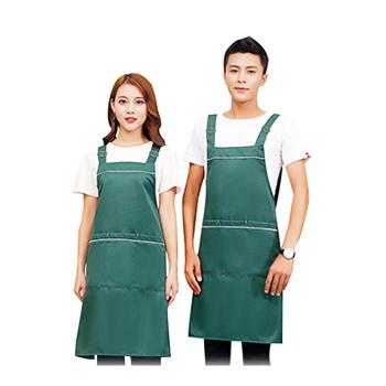 时尚工装净色围裙  可印花  现货vwin德赢跑分平台下载