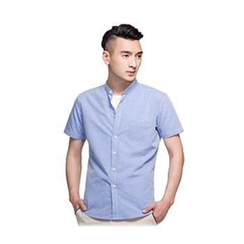 仿麻中国风立领衬衫  vwin德赢跑分平台下载现货可绣标