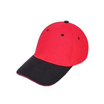 CPA4纯棉磨毛  拼色六片棒球帽子  现货可印可绣