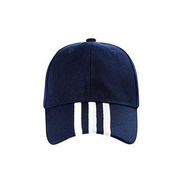 帽檐刺绣三条纹  全棉帽子  vwin德赢跑分平台下载现货可印可绣