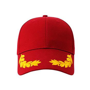 帽檐刺绣麦穗  纯棉帽子现货  可印可绣  BYS139