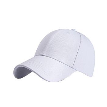 CPA1 活染全棉斜纹布 银色日字扣6片纯棉棒球帽子
