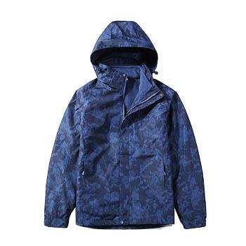 男冲锋衣迷彩花纹防水透气防风透气三合一外套