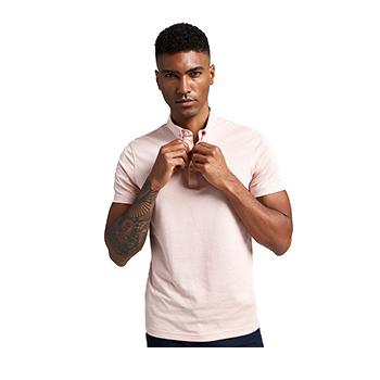新款商务POLO衫 领尖带扣 形态安定珠地网眼面料